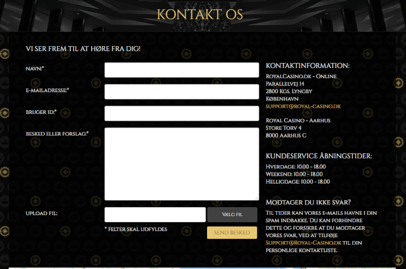 Royal Casino kontakt